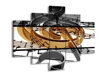 Dvoubarevný obraz houslového klíče (F001986F150105)