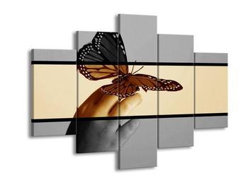 Dvoubarevný obraz motýla (F002004F150105)