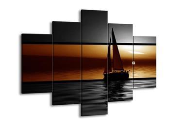 Dvoubarevný obraz plachetnice (F002007F150105)