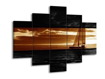 Obraz plachetnice na moři (F002009F150105)