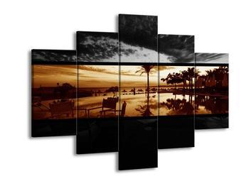 Dvoubarevný obraz palem (F002014F150105)