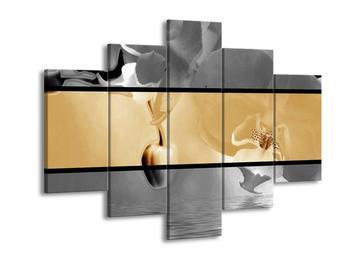 Dvoubarevný obraz orchideje (F002028F150105)