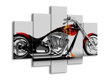 Obraz motorky s ohnivým detailem (F002046F150105)