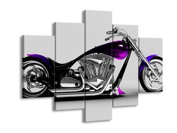 Obraz motorky s fialovým detailem (F002047F150105)