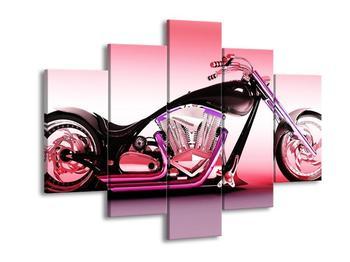 Obraz růžové motorky (F002049F150105)
