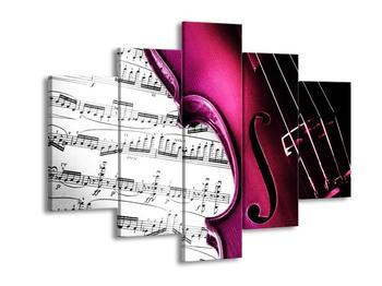 Obraz růžových houslí (F002077F150105)