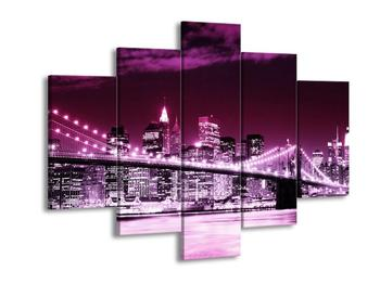 Obraz fialového města (F002081F150105)
