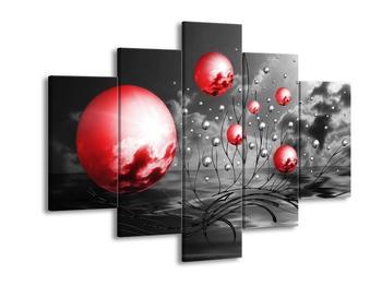 Moderní obraz - červené koule (F002086F150105)