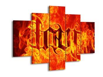 Obraz hořícího nápisu (F002127F150105)