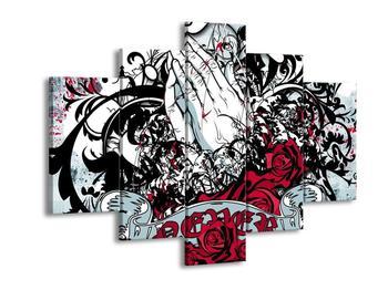 Obraz růží a rukou (F002226F150105)