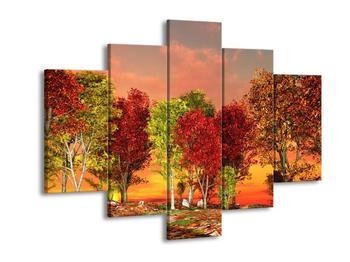 Obraz barevných stromů (F002283F150105)
