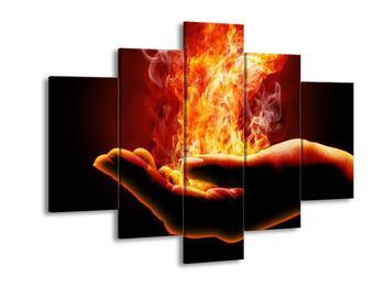Obraz plamene v dlani (F002303F150105)