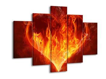 Obraz hořícího srdce (F002305F150105)