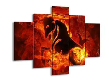 Obraz kozoroha v plamenech (F002307F150105)