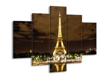 Obraz noční Eiffelovy věže (F002311F150105)