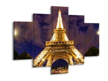 Obraz noční Eiffelovy věže - zespodu (F002312F150105)