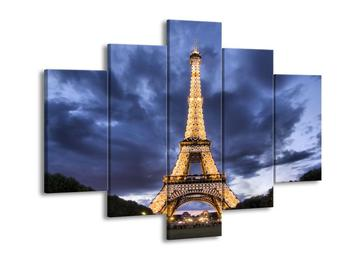Obraz osvětlené Eiffelovy věže (F002314F150105)