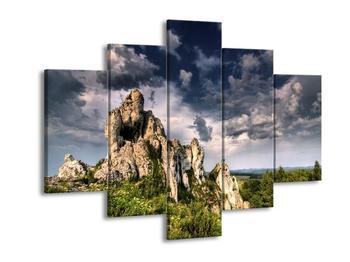 Obraz trávou obrostlých skal (F002317F150105)