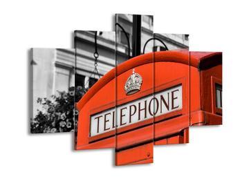 Obraz červené telefonní budky (F002319F150105)