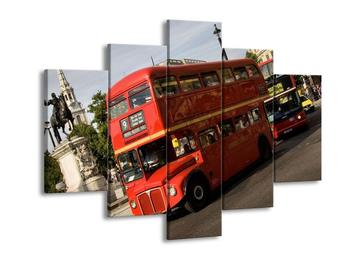 Obraz červeného dvoupatrového autobusu (F002320F150105)