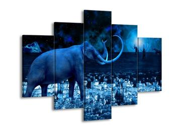 Obraz modrého slona  (F002412F150105)