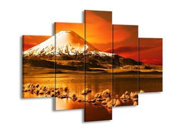 Žlutooranžový obraz hory (F002430F150105)