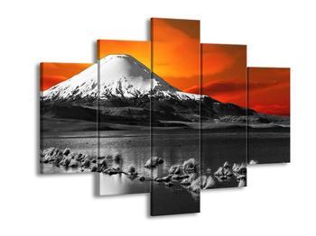 Šedobílý obraz hory (F002431F150105)