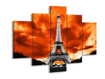 Obraz černobílé Effelovy věže (F002443F150105)