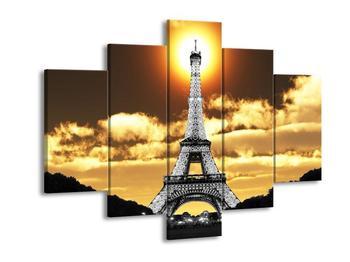 Obraz černobílé Effelovy věže (F002445F150105)
