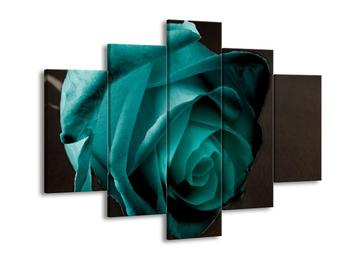 Obraz tyrkisové růže (F002482F150105)