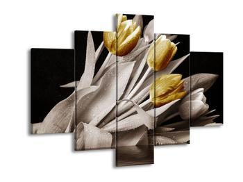 Obraz zlatých květů tulipánů (F002484F150105)