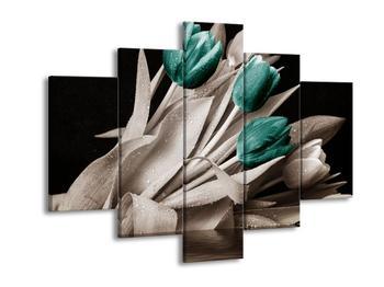 Obraz tyrkisových květů tulipánů (F002485F150105)