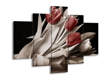 Obraz červených květů tulipánů (F002486F150105)