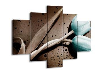 Moderní obraz tyrkysových tulipánů (F002516F150105)