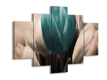 Obraz tří tulipánů - modrá bílá (F002538F150105)
