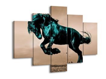 Obraz modrého koně  (F002670F150105)