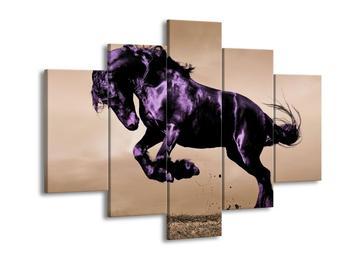 Obraz fialového koně  (F002671F150105)