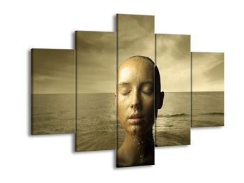 Obraz ženy vynořující se z vody  (F002684F150105)