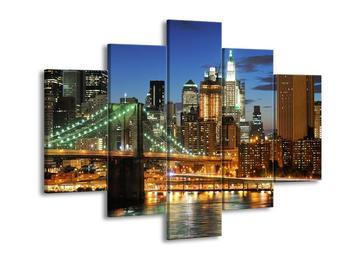 Obraz mostu s New Yorkem  (F002687F150105)