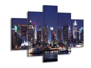 Obraz osvětlených New Yorských mrakodrapů  (F002812F150105)