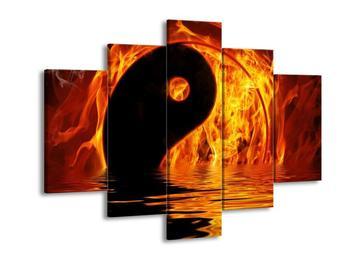 Obraz hořícího Jin Jangu  (F002885F150105)