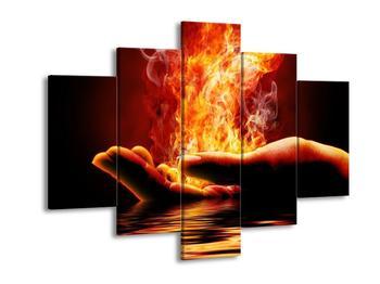 Obraz dlaně v plamenech  (F002886F150105)