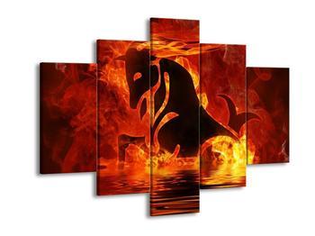 Obraz hořícího znaku kozoroha  (F002888F150105)