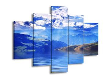 Obraz pohoří s mraky  (F002935F150105)