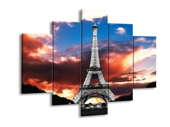 Obraz černobílé Eiffelovy věže  (F002953F150105)