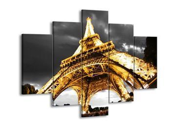 Obraz osvětlené Eiffelovy věže  (F002997F150105)