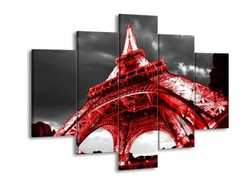 Obraz červené Eiffelovy věže  (F002999F150105)