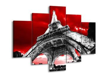 Obraz černobílé Eiffelovy věže  (F003000F150105)