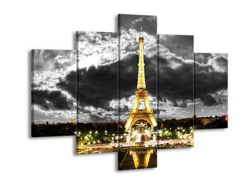 Obraz noční Eiffelovy věže v Paříži (F003003F150105)