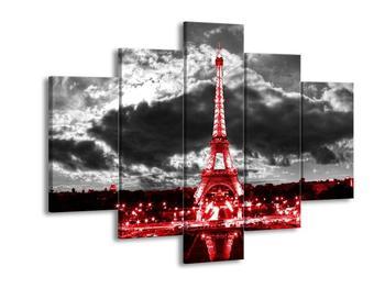 Obraz noční Eiffelovy věže v Paříži (F003005F150105)